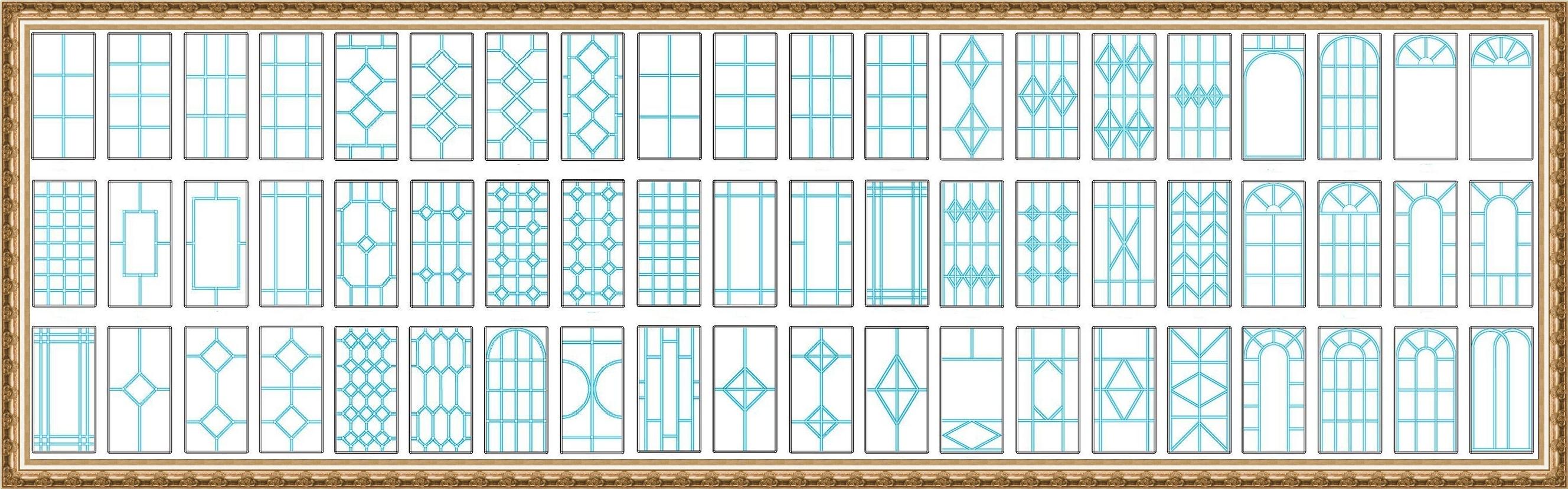 Варианты раскладки в ПВХ конструкциях