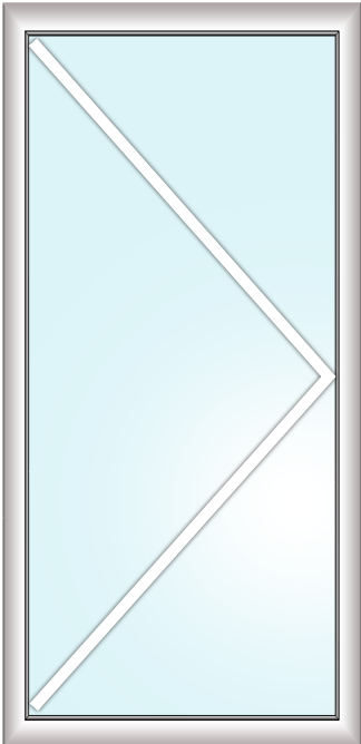 отдельно стоящая балконная дверь без импоста (поворотная, заполение стеклопакет)