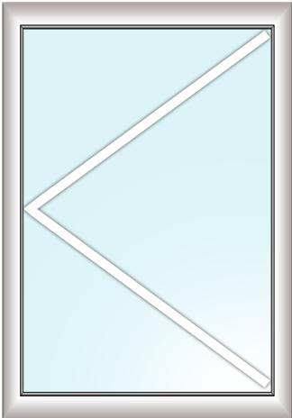 одностворчатое окно (поворотное)