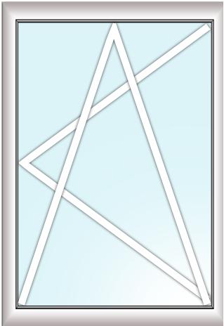 одностворчатое окно (поворотно откидное)