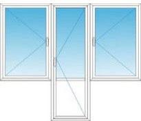 """дверь в центре (поворотная) + 2 поворотных окна""""чебурашка"""""""