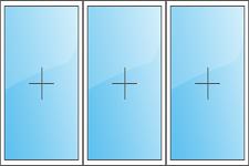 трехстворчатого  окно (глухое)
