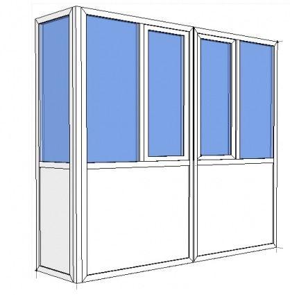 """балкон """"французский"""" (цельная конструкция от нижней до верхней плиты, балкон Г-образный)"""