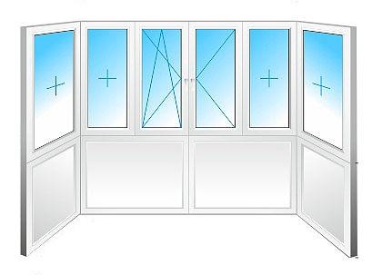 """балкон """"французский"""" (цельная конструкция от нижней до верхней плиты, балкон П-образный)"""