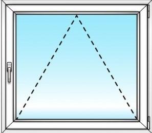 одностворчатое окно (откидное)