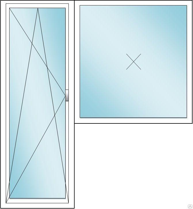 дверь поворотно-откидная окно глухое
