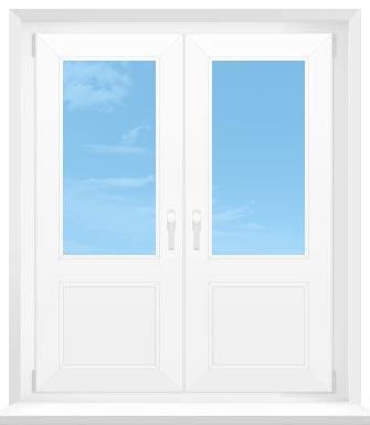 штульповые двери (поворотные)