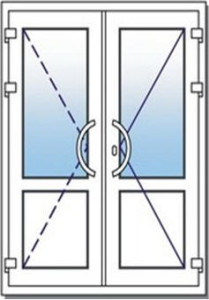 двухстворчатые входные двери 1200 на 2100